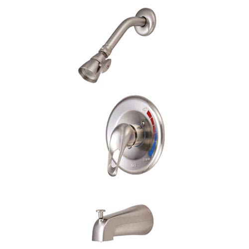 Satin Nickel Loop Handle Tub and Shower Faucet