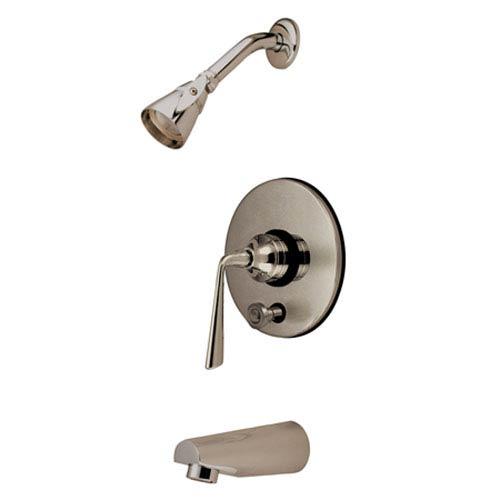 Copenhagen Satin Nickel Single Handle Tub & Shower Faucet with Diverter