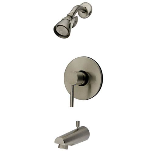 Elements of Design Satin Nickel Concord Lever Tub and Shower Faucet