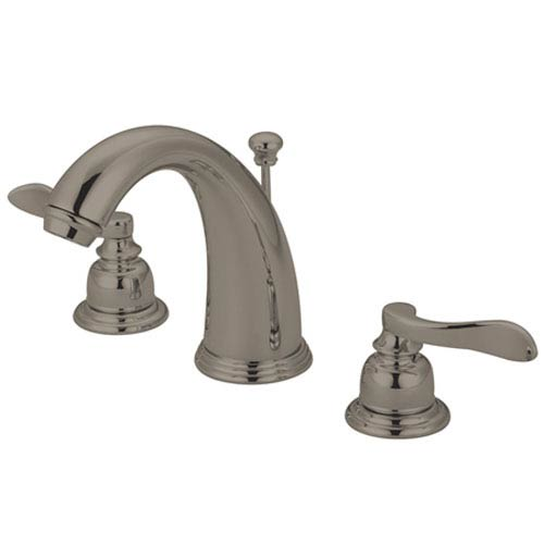 Elements of Design Paris Satin Nickel Double Handle Widespread Lavatory Faucet with Retail Pop-Up