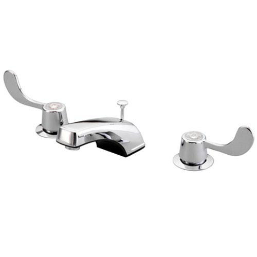 Elements of Design Chrome Vista Twin Blade Handle Widespread Faucet with Brass Pop-Up