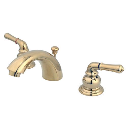 Elements of Design Polished Brass Modern Lever Adjustable Spread Lavatory Faucet
