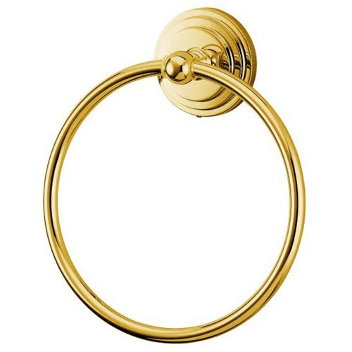 Milano Polished Brass Towel Ring