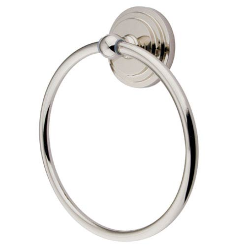 Elements of Design Manhattan Polished Nickel 6-Inch Towel Ring