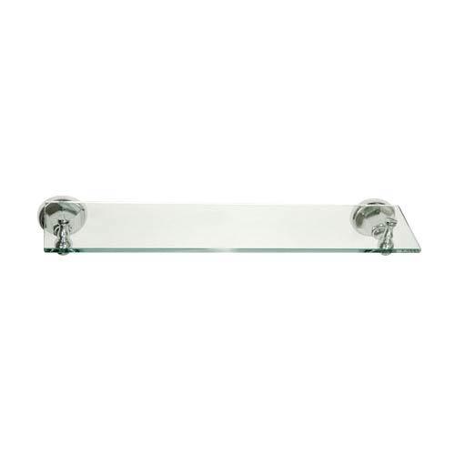 New York Chrome Glass Shelf