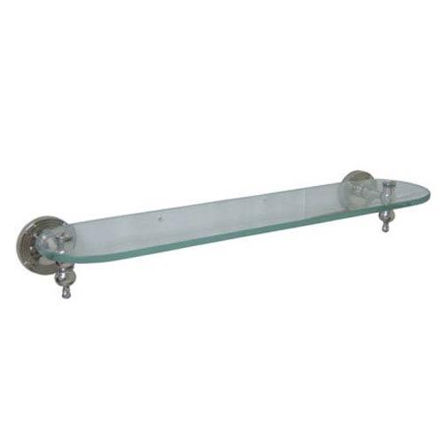 Charlevoix Polished Nickel Glass Shelf