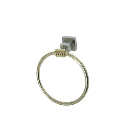 Fortress Chrome and Polished Brass 6-Inch Towel Ring