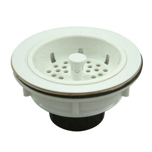 Made to Match White ABS Basket Strainer