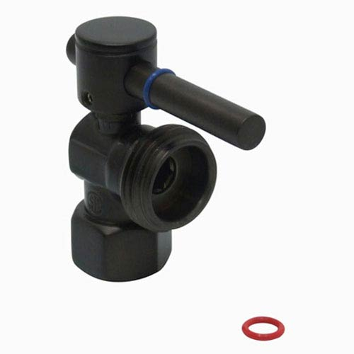 South Beach Oil Rubbed Bronze 1/4-Turn 1/2-in x 3/4-in Angle Stop Valve