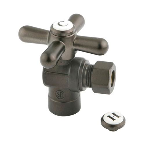 Elements of Design Accents Oil Rubbed Bronze Angle Stop with 1/2-Inch Sweat x 3/8-Inch OD Compression
