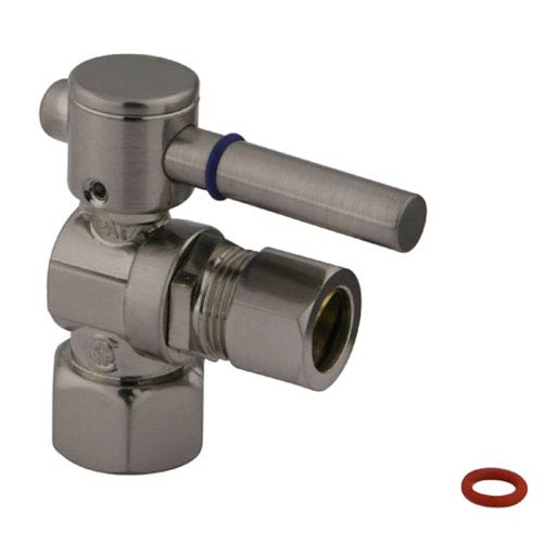 Elements of Design South Beach Satin Nickel 1/4-Turn 1/2-in FIP x 1/2-in OD Compression Angle Stop Valve