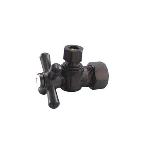 Elements of Design Accents Oil Rubbed Bronze Classic Angle Stop with 5/8-Inch OD Compression x 3/8-Inch OD Compression