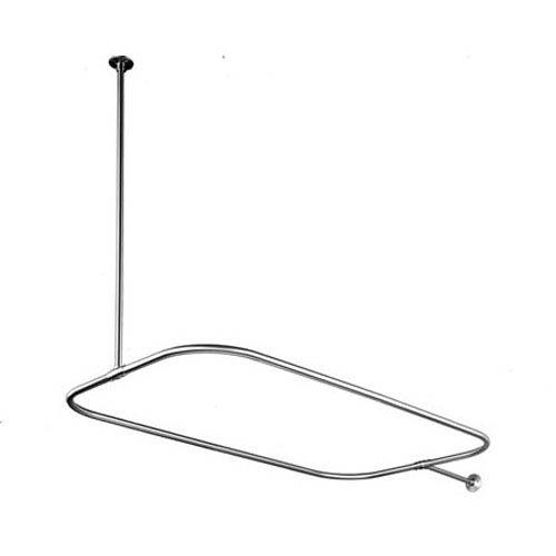 Chrome Rectangular Shower Rod