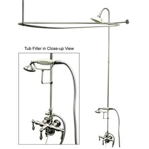 Elements of Design Hot Springs Chrome Down Spout Shower Package with Metal Levers