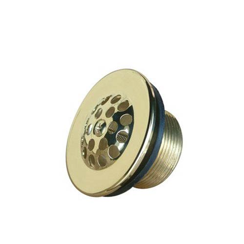 Accents Polished Brass Tub Drain Strainer & Grid
