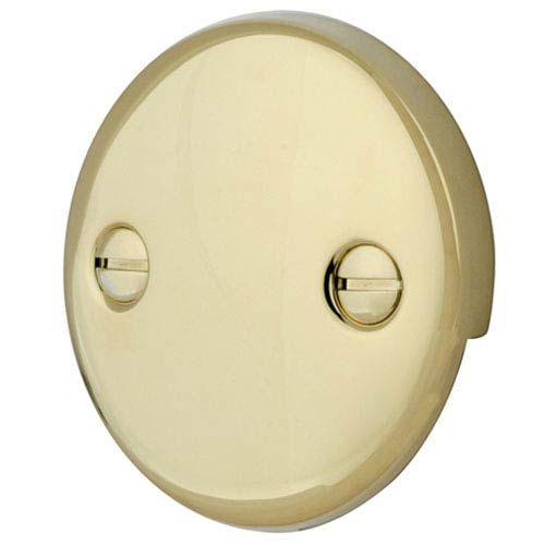 Made to Match Polished Brass Overflow cover 2 Hole Round Plate