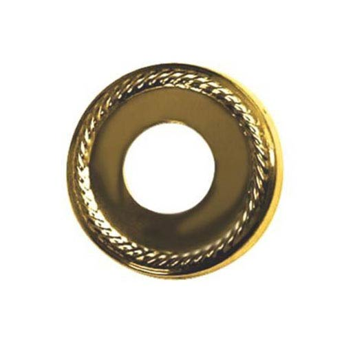 Made to Match Polished Brass 3-Inch Diameter Rope Decor Escutcheon