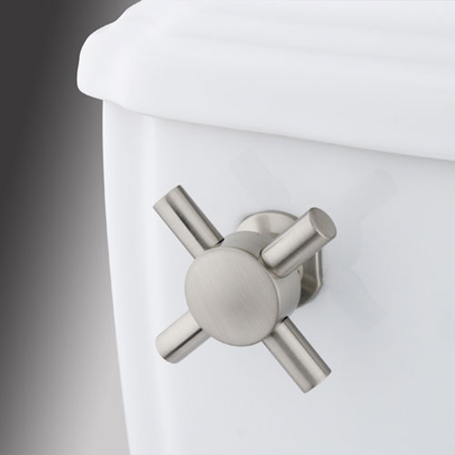 Satin Nickel Concord Cross Decorative Tank Lever