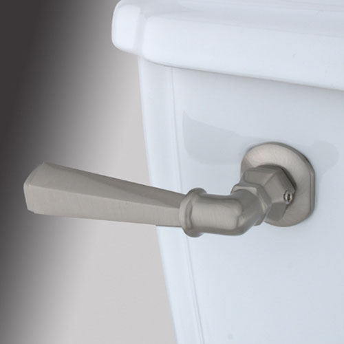 Satin Nickel Decorative Hex Tank Lever
