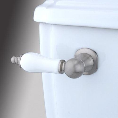 Elements of Design Satin Nickel Decorative Porcelain Tank Lever