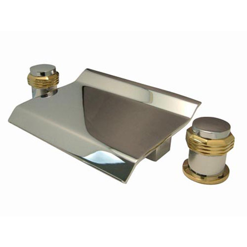 Elements of Design Boca Chrome/Polished Brass Waterfall Roman Tub Filler