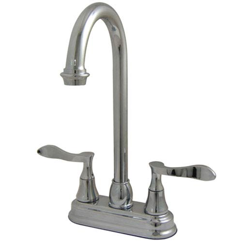 Marseille Polished Chrome Double Handle 4-in Centerset Bar Faucet
