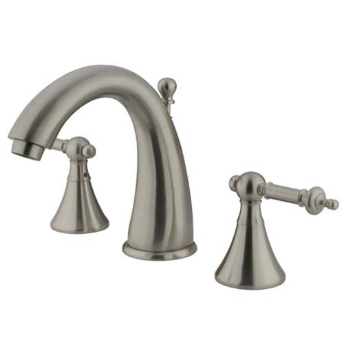 Elements of Design Satin Nickel Templeton Lever Widespread Lavatory Faucet