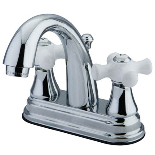 Elizabeth Chrome Two Handle 4-Inch Centerset Lavatory Faucet with Brass Pop-up