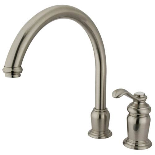 Elements of Design Satin Nickel Templeton Lever Single Handle High Spout Kitchen Faucet without Sprayer