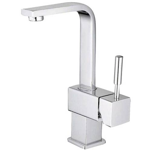 Elements of Design Chrome Metal Lever Single Handle Lavatory Faucet with Pop-Up