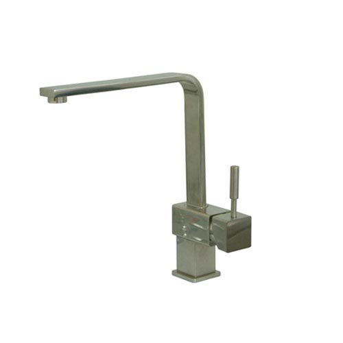 Satin Nickel Metal Lever Kitchen Faucet