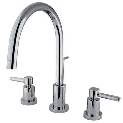 Elements of Design Chrome Concord Lever Two Handle Widespread Lavatory Faucet