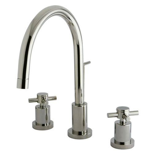 Elements of Design South Beach Polished Chrome 4-in  Double Cross Handle Mini-Widespread Lavatory Faucet