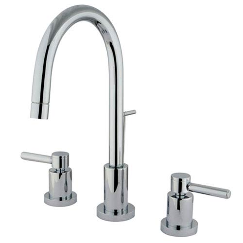 South Beach Polished Chrome 4-in Double Handle Mini-Widespread Lavatory Faucet