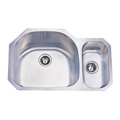 Seattle Stainless Steel Dual Level Undermount Kitchen Sink