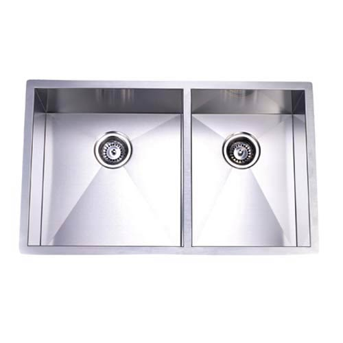 bf4874dba3 Elements of Design Town Square Stainless Steel Offset Double Bowl  Undermount Kitchen Sink