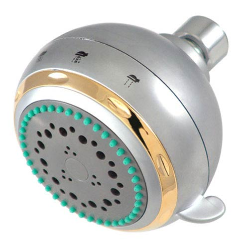 Nuvo Satin Nickel Adjustable Fixed Shower Head