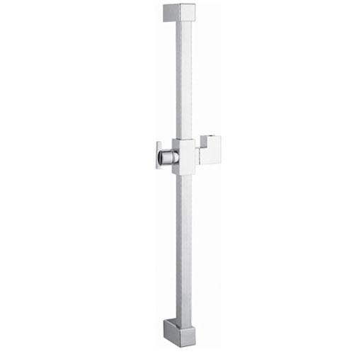 Showershapes Chrome 23.6-Inch Square Shower Slide Bar