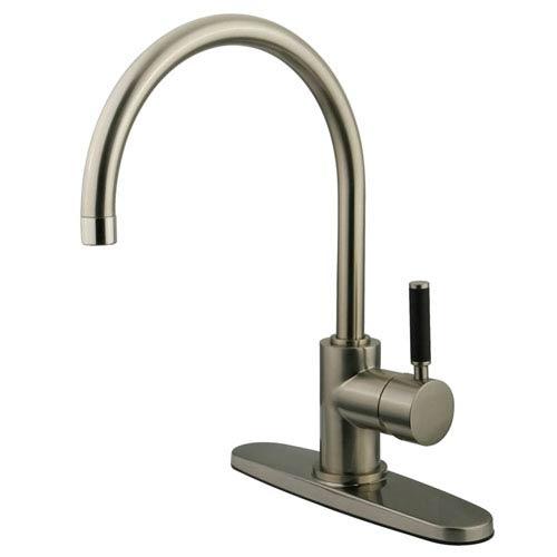 Gourmetier Kaiser Satin Nickel 8-Inch Centerset Low Lead Single Handle Kitchen Faucet