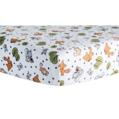 Trend Lab Friendly Forest Deluxe Flannel Fitted Crib Sheet