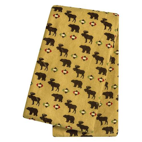 Northwoods Animals Deluxe Flannel Swaddle Blanket