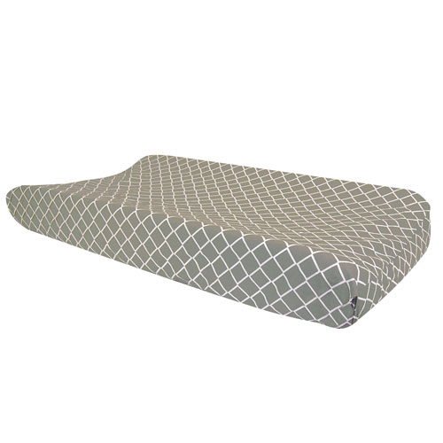 Paloma Gray Diamond Changing Pad Cover