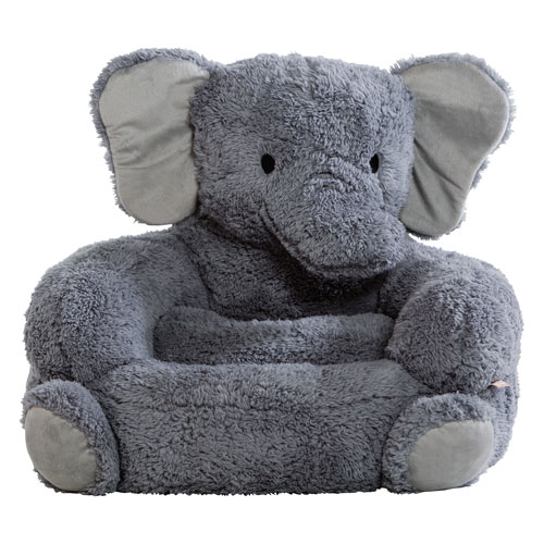 Trend Lab Childrens Plush Elephant Character Chair