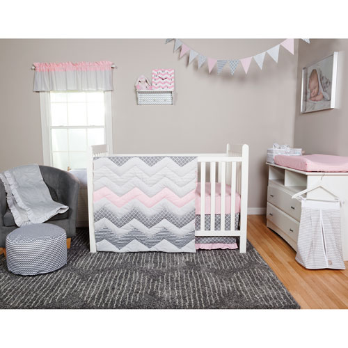 Trend Lab Cotton Candy Three Piece Crib Bedding Set