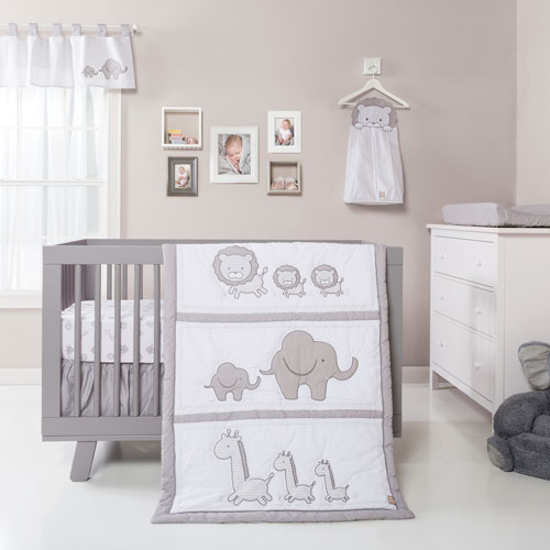 Safari Chevron Three-Piece Crib Bedding Set