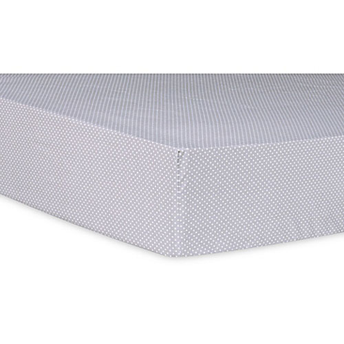 Paloma Gray Dot Fitted Crib Sheet