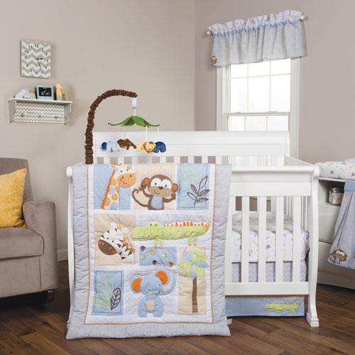 Trend Lab Jungle Fun Six-Piece Crib Bedding Set