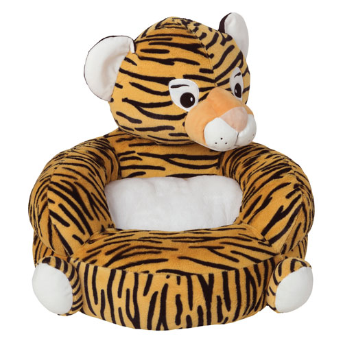 Childrens Plush Tiger Character Chair