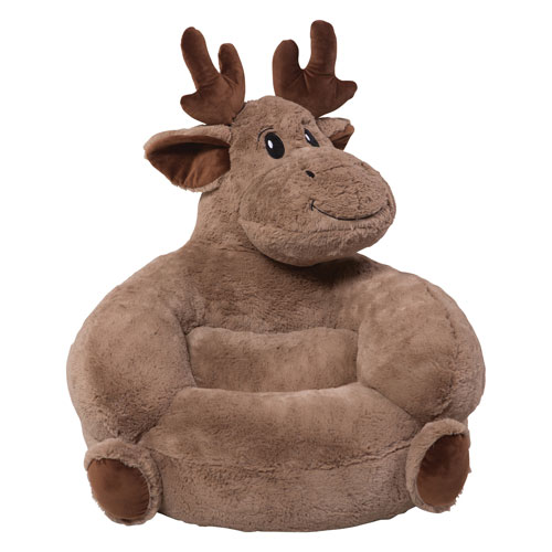 Childrens Plush Moose Character Chair