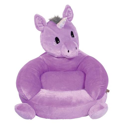 Childrens Plush Unicorn Character Chair